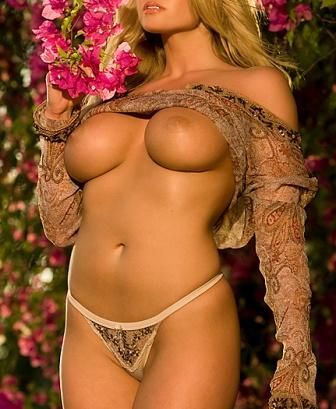 Playboy Cybergirl of the year breann mcgregor shows off her big boobs in garden