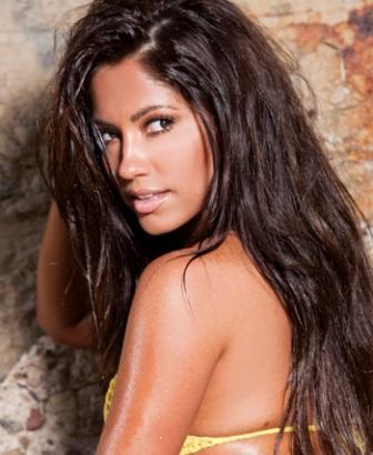 playboy playmate and sexy model, hot latina jessica burciaga shows her big spanish booty