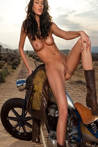 playmate beth williams naked on motorcycle