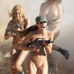 playboytv, playboy nude models daisy sanchez shooting guns & rifles in the desert naked